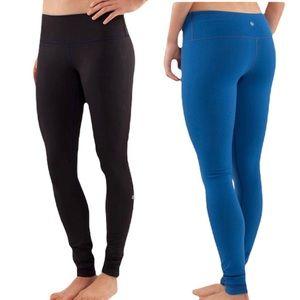 LULULEMON Wunder Under Reversible Full Length Stretchy Workout Pants Leggings